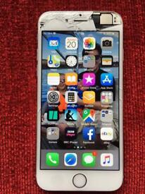 iPhone 6 64gb grey with cracked screen