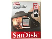 ScanDisk 64GB Brand New SD Card