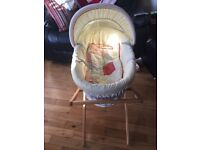 Mamas and Papas Moses Basket and Stand - £30