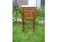 French Antique bedside table - Potty cabinet - marble top