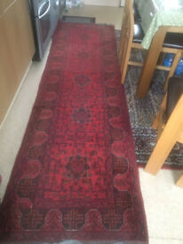 Great Condition 3 Meter Handmade Afghani Rug