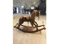 Hand Carved Traditional Rocking Horse