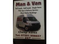 Man & van removal service