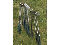 Pinseeker golf club set trolley (golf balls & t's , glove , rain wear)