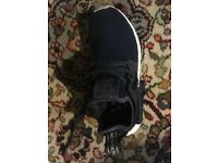 Navy blue ladies Adidas trainers (like new)