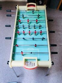 Table football with ball