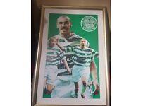 Signed henrik larsson framed poster