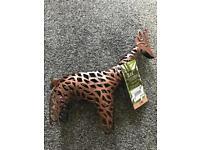 3 x Next Solar Bronze Metal Giraffe