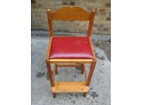 One Tall Chair with Footrest