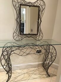 Console table and a mirror made in France - £189