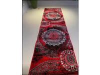 Brand New red long runner corridor rug size 220 x 60 Cm carpet rugs £25