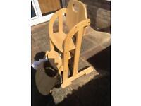 Wooden weavers highchair