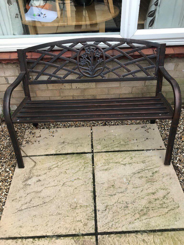 garden bench metal - Garden Furniture Kings Lynn