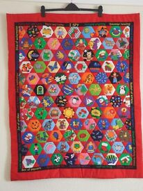 Hand made cot/play quilt