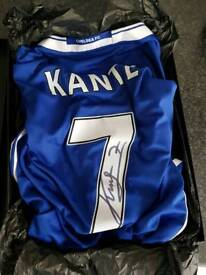 N'Golo Kante signed Chelsea shirt