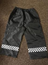 Police trousers kids fancy dress up age 3 - 4 Years