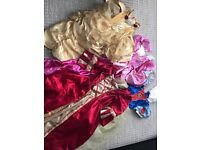 4 Disney dressing up gowns 7-8 approx