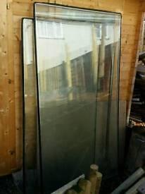 Double glazed glass panels