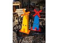 Wooden painted windmill garden ornaments