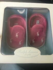 Genuine Ralph Lauren baby shoes 6-9 months