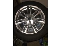 "Jaguar XF 17"" Alloy and tyre in good condition"