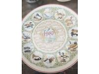 Wedgwood water birds plate no marks