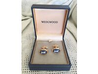 Wedgwood Cameo Gold Plated Cufflinks - Dogs design