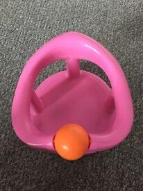 Pink Swivel Baby Bath Seat
