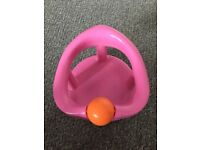 Pink Swivel Baby Bath Seat