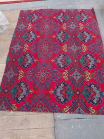 TURKEY RED AXMINSTER CARPET