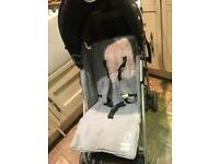 Black grey buggy stroller