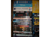 LARGE BOX OF 29 DVDs AND 23 BLU RAYS INCLUDING 25 BOXSETS