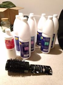 Peroxide 12% and 9% bowl brush and round brush