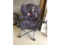 Child's folding elephant camping chair