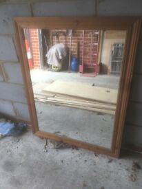 Large pine mirror 48in X 38in