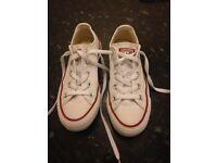White Converse Size UK3
