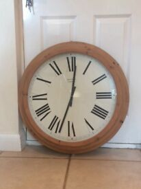 Antique looking Large Wooden Wall clock with Roman numerals 66cm Diameter