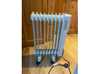 9 fin oil filled radiator electric heater
