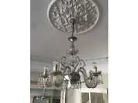 Venetian large glass chandelier