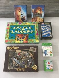 Selection of games,harry potter jigsaw and lion king dvds