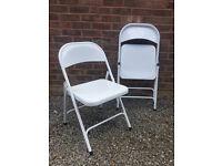Habitat White metal folding chair