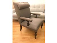 Wooden Chair Adjustable Headrest by Leather Straps NEW