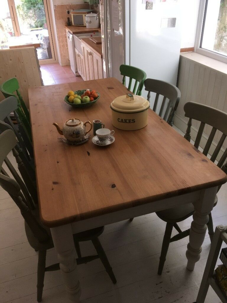 the best attitude d6330 9cede Table for sale 6ft Lovely Vintage solid wood and 6 chairs