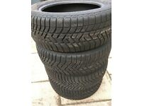 Pirelli winter tyres R16 205/55. Set of 4 tyres in good condition and almost new.