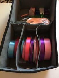 Ribbons and ribbon storage bac