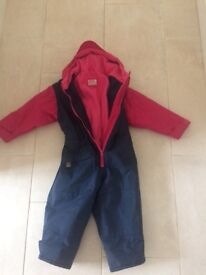 Togz all in one wsterproof suit. Age 2-3years