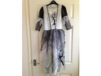 Halloween girls black and silver dress age 9-10 years