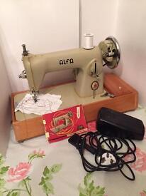 Alfa sewing machine working