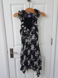 Beautiful Black Floral Dress 12