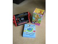 Toy Bundle: Tool set, Honey Bee Tree (Childs Kerplunk) & Penguin Pile Up
